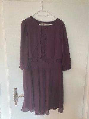 Mint&berry Sukienka koszulowa brązowo-fioletowy