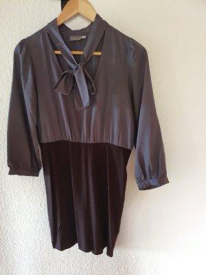 Blusenkleid grau/schwarz