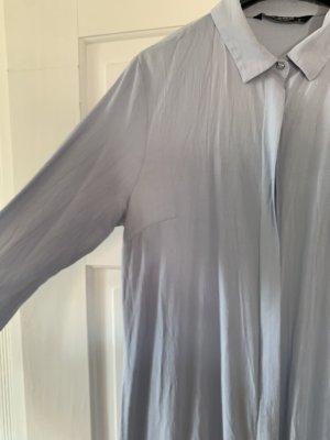Blusenkleid hellblau midi