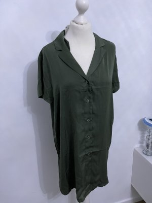 H&M Vestido tipo blusón gris verdoso-caqui