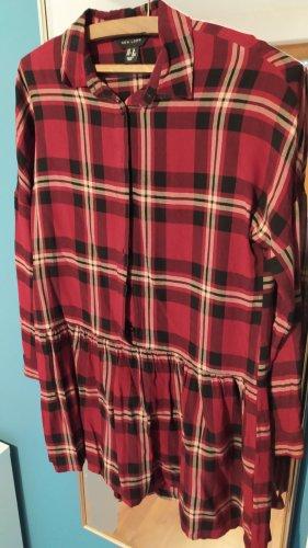 Blusenkleid Hemdkleid Rot Kariert New Look