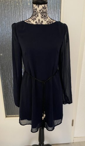 Blusenkleid in dunkelblau