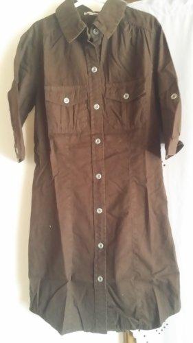 3 Suisses Vestido de camuflaje marrón oscuro