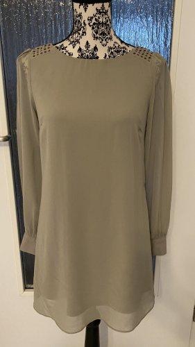 Blusenkleid in khaki/grau