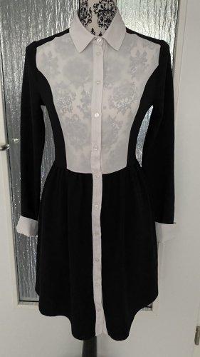 Blusenkleid in schwarz weiß
