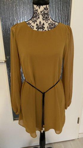 Blusenkleid in senfgelb