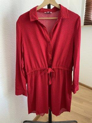 Warehouse Robe chemisier rouge foncé