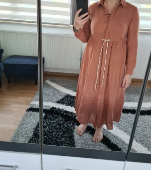 Blusenkleid Midikleid Pieces Gr. L Baumwolle Kleid braun Neu € 70,-