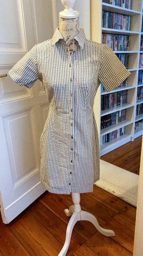 Blusenkleid, Minikleid, helloliv-weiß, Karo, Gr. 36