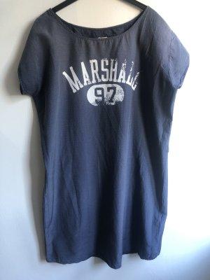 Franklin & marshall Vestido camisero azul oscuro-blanco puro