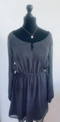 Gina Blouse Dress black-grey