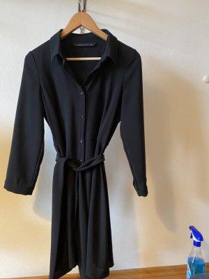 Blusenkleid, schwarz