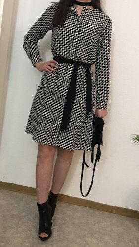 Blusenkleid schwarz weiß karo