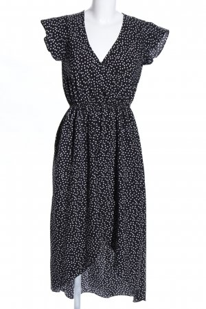 Blouse Dress black-white mixed pattern casual look