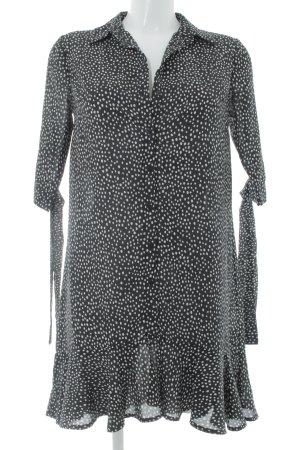 Blusenkleid schwarz-weiß Punktemuster Casual-Look