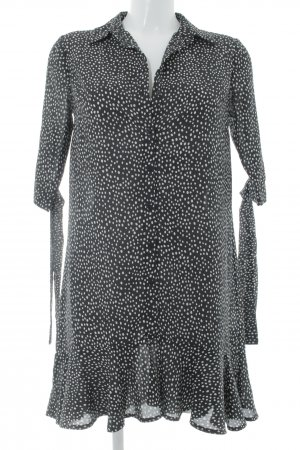 Blouse Dress black-white spot pattern casual look