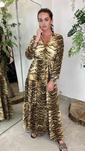 Blusenkleid Tigerprint Gr.M