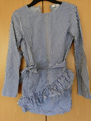 Blusenkleid /-Tunika blau-weiß gestreift