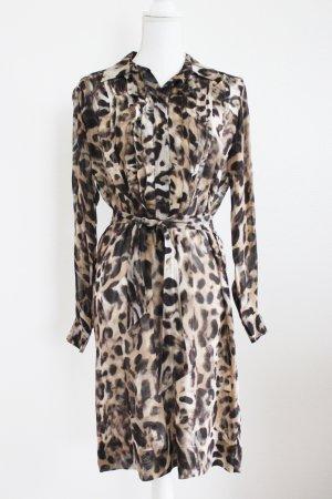 Blusenkleid von St. Emile, leoprint, Gr. 36 D, Seide 100%