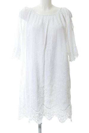 Blusenkleid wollweiß Boho-Look