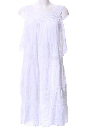 Blusenkleid wollweiß Casual-Look