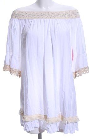 Blusenkleid wollweiß-creme Casual-Look