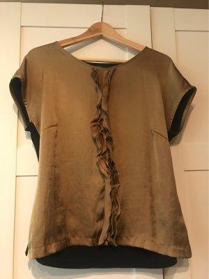Apanage Blouse à manches courtes noir-bronze