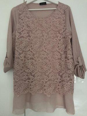 Gina Benotti Crochet Shirt rose-gold-coloured-dusky pink