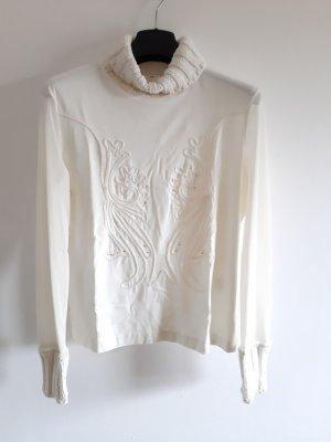 Camisa de cuello de tortuga blanco puro