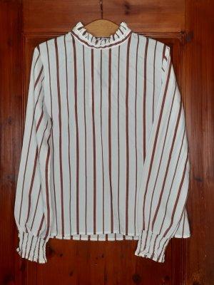 Blusenshirt/Bluse von KHUJO, Gr L, rot weiß gestreift