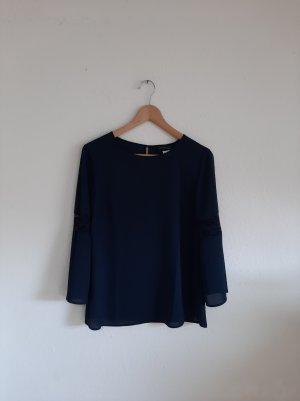 Blusenshirt dunkelblau mit Spitze creation L 38