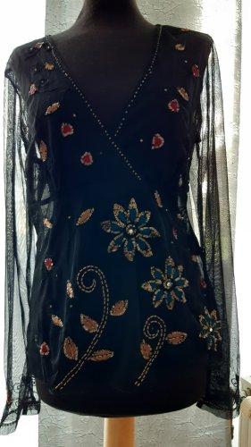 Vera Verona Transparent Blouse black