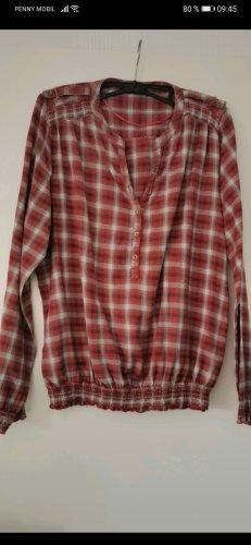Athmosphere Bluzka z długim rękawem biały-czerwony