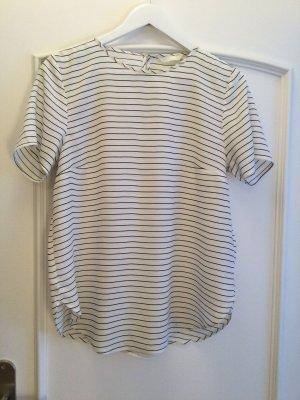 H&M Blouse Shirt white-black