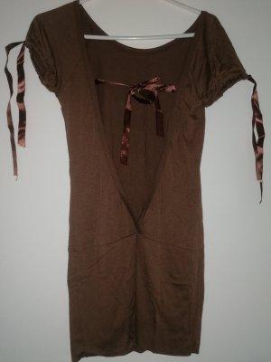 Shirt Dress bronze-colored