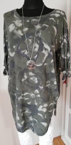 Made in Italy Gebreid shirt wit-khaki