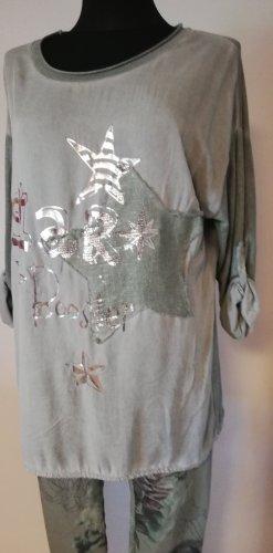 Made in Italy Camicia a tunica cachi