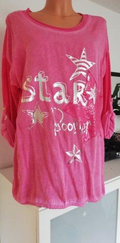 Made in Italy Camicia a tunica rosa
