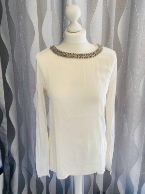 Blusenshirt mit Perlenkragen Hallhuber