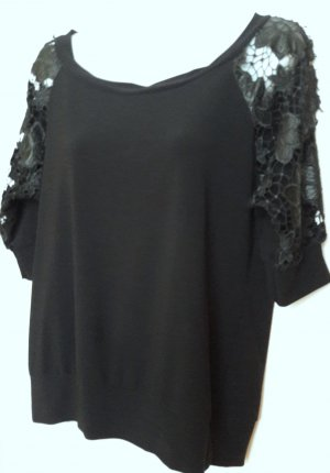 Orsay Crochet Shirt black