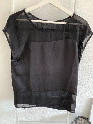 Blusenshirt mit transparentem Einsatz