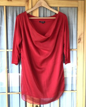 Deichgraf Cowl-Neck Shirt red cotton