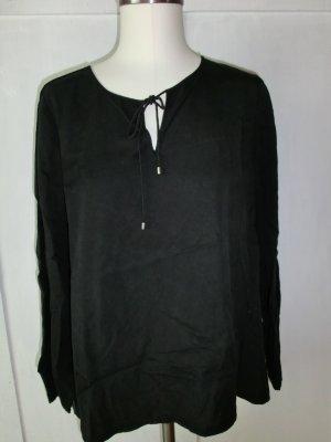 Blusenshirt Tunika schwarz Größe 40