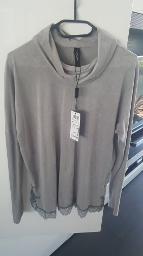Marc Cain Blouse Shirt silver-colored-light grey