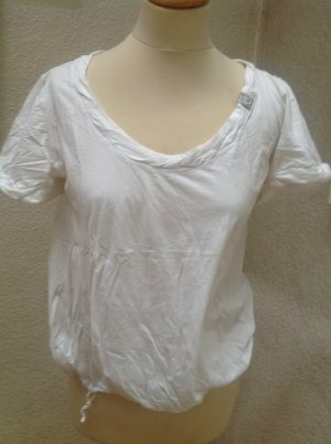 Marc Cain Blouse en crash blanc coton