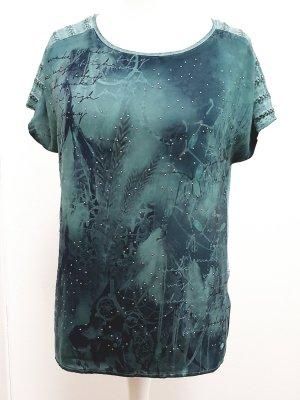 Tom Tailor Shirt met print petrol-cadet blauw