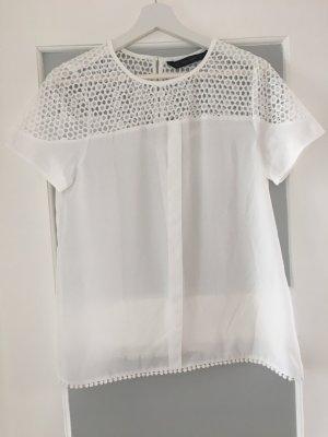 Blusenshirt von Zara mit Lochmuster