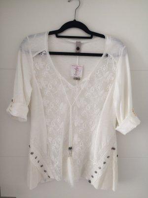 Tredy Blouse Shirt white cotton