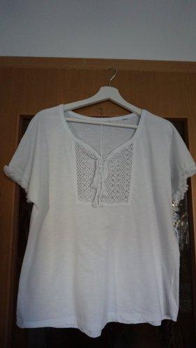 Tchibo / TCM Short Sleeved Blouse white