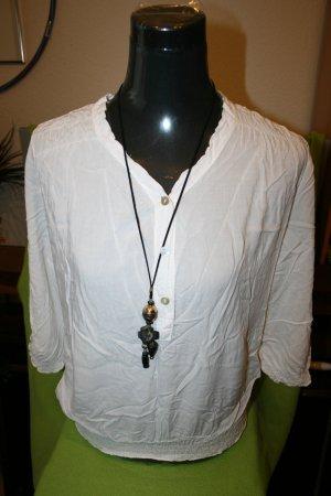 Blusenshirt weiß von Made in Italy Gr. L